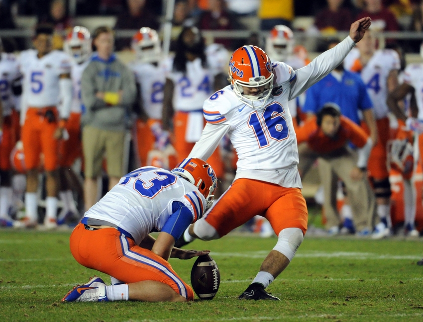 the top 5 kickers in florida gator history